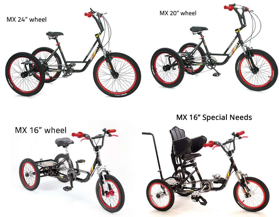 BMX style tricycle - adults, children